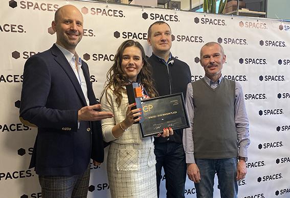 """Moderní kancelářské centrum Spaces Kyiv Maidan Plaza na Ukrajině získalo ocenění """"Coworking roku"""""""
