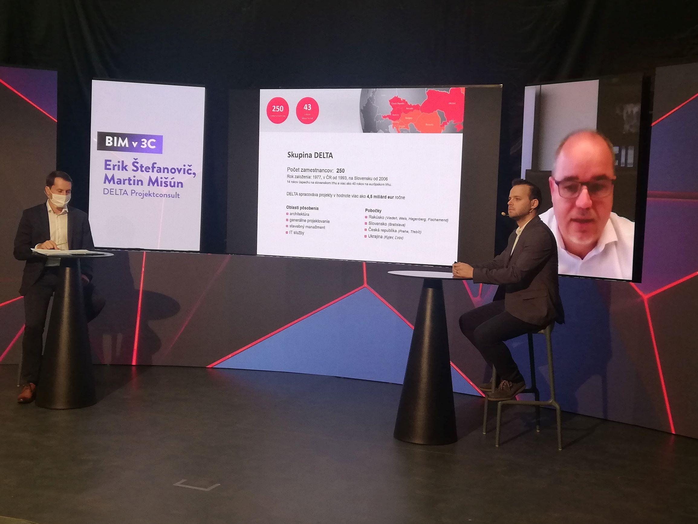Virtuální setkání odborníků na konferenci BIM a digitalizace ve stavebnictví 2020 v Bratislavě