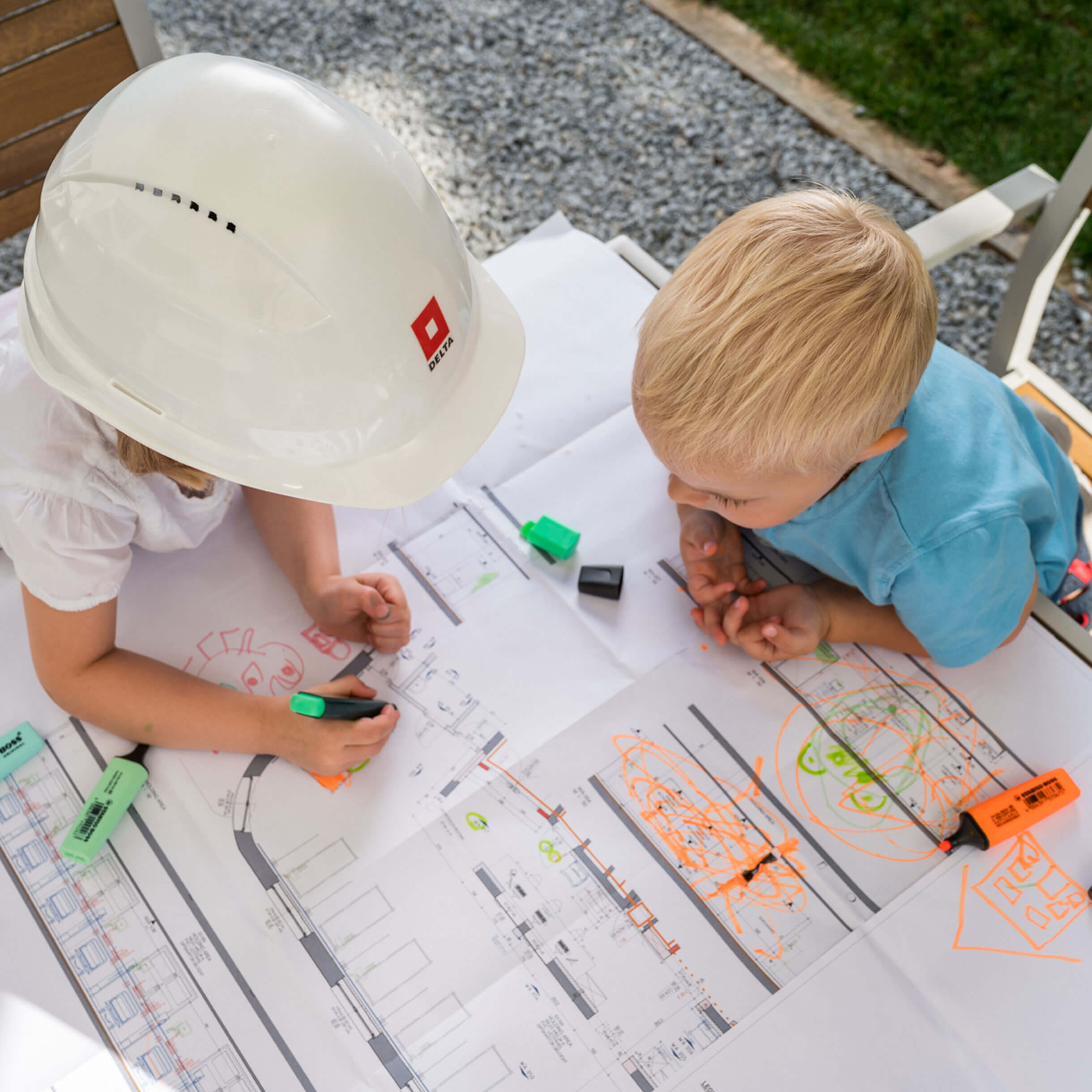 Děti kreslí plán