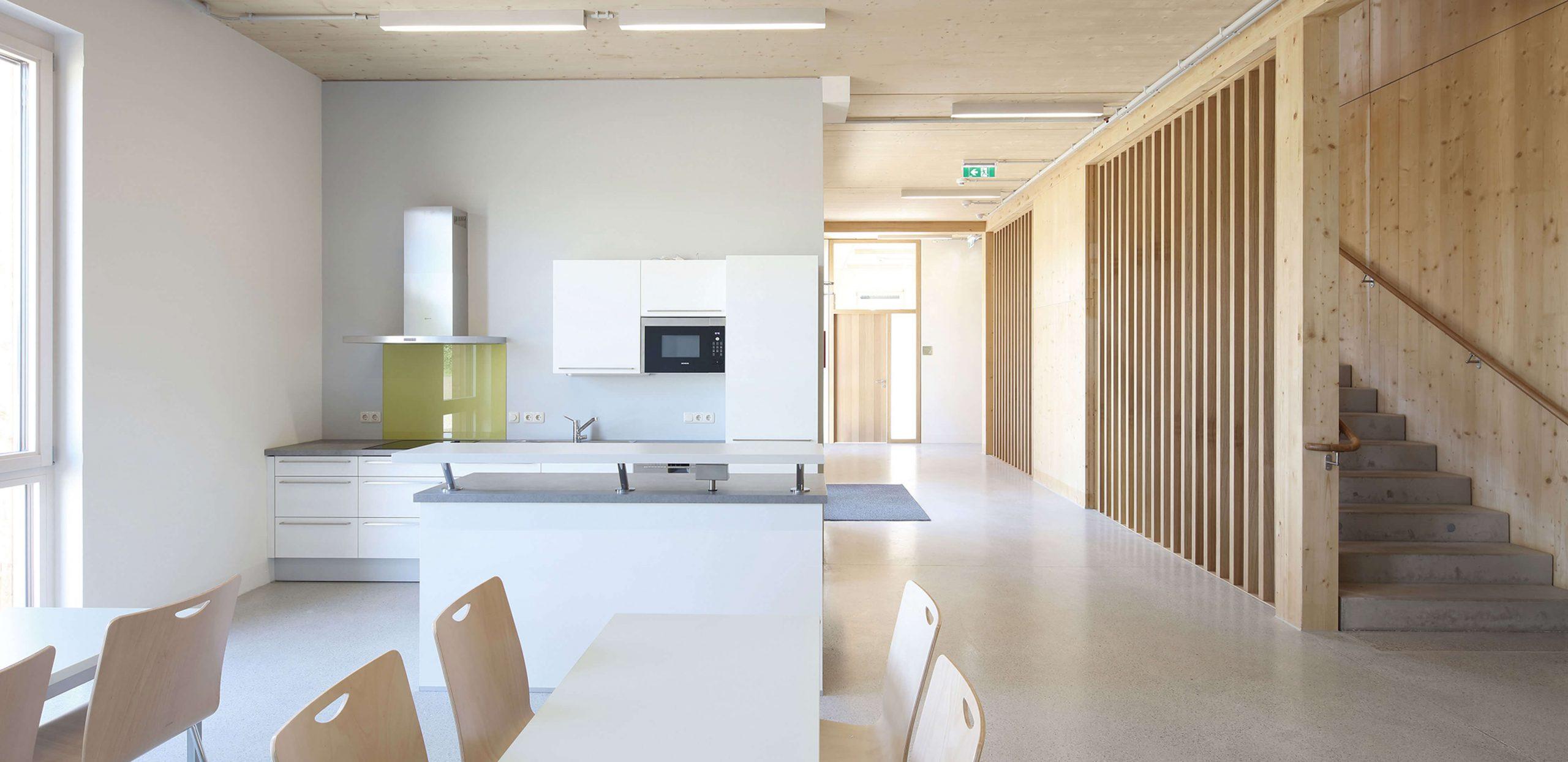 Společenské prostory v laboratorní a kancelářské budově IFA, Tulln
