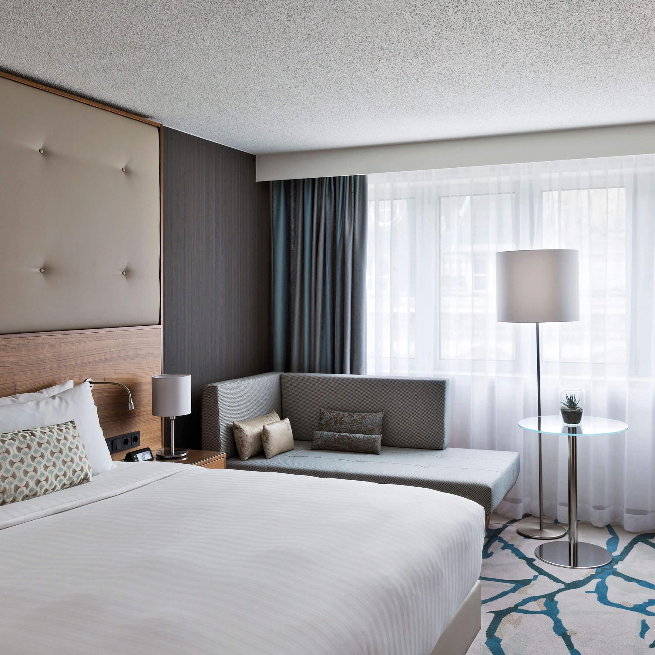 Pokoj v hotelu Mariott ve Vídni