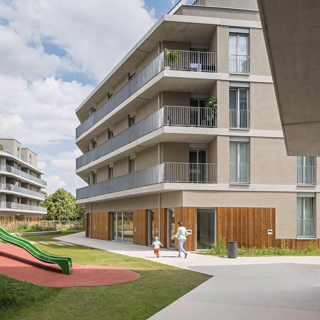Vizulizace bytových domů Traviatagesse v Rakousku
