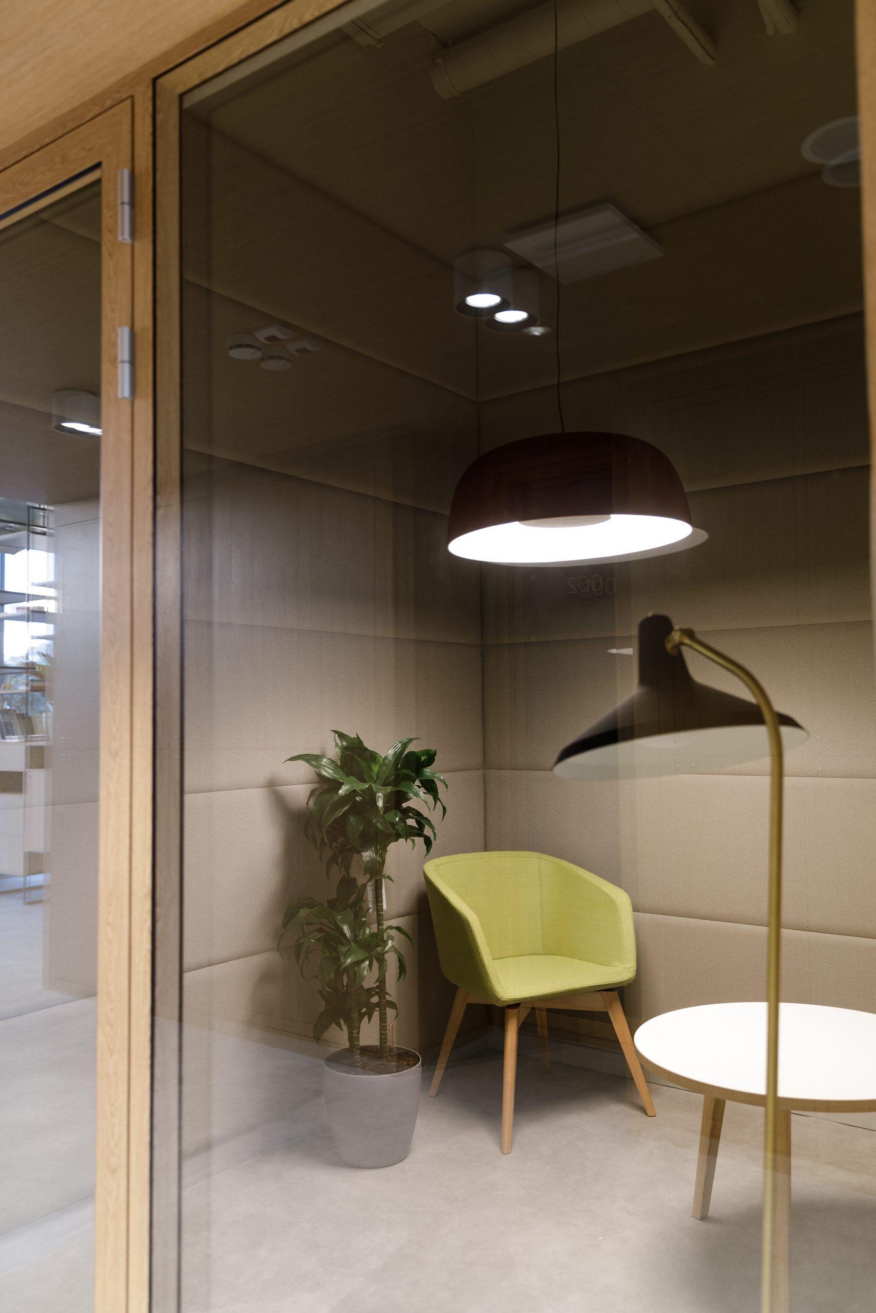 Odpočinková místnost v administrativní budově SPACES v Kyjově
