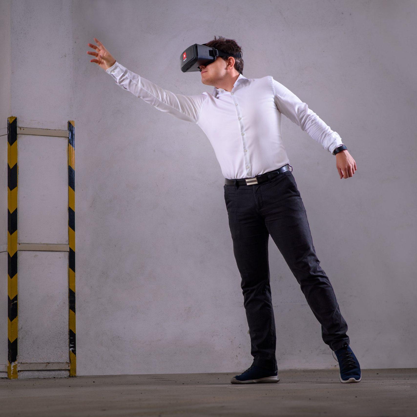 3D model budovy prezentovaný pomocí virtuálních brýlí