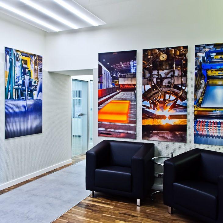Relaxační místnost v kancelářích voestalpine v Praze