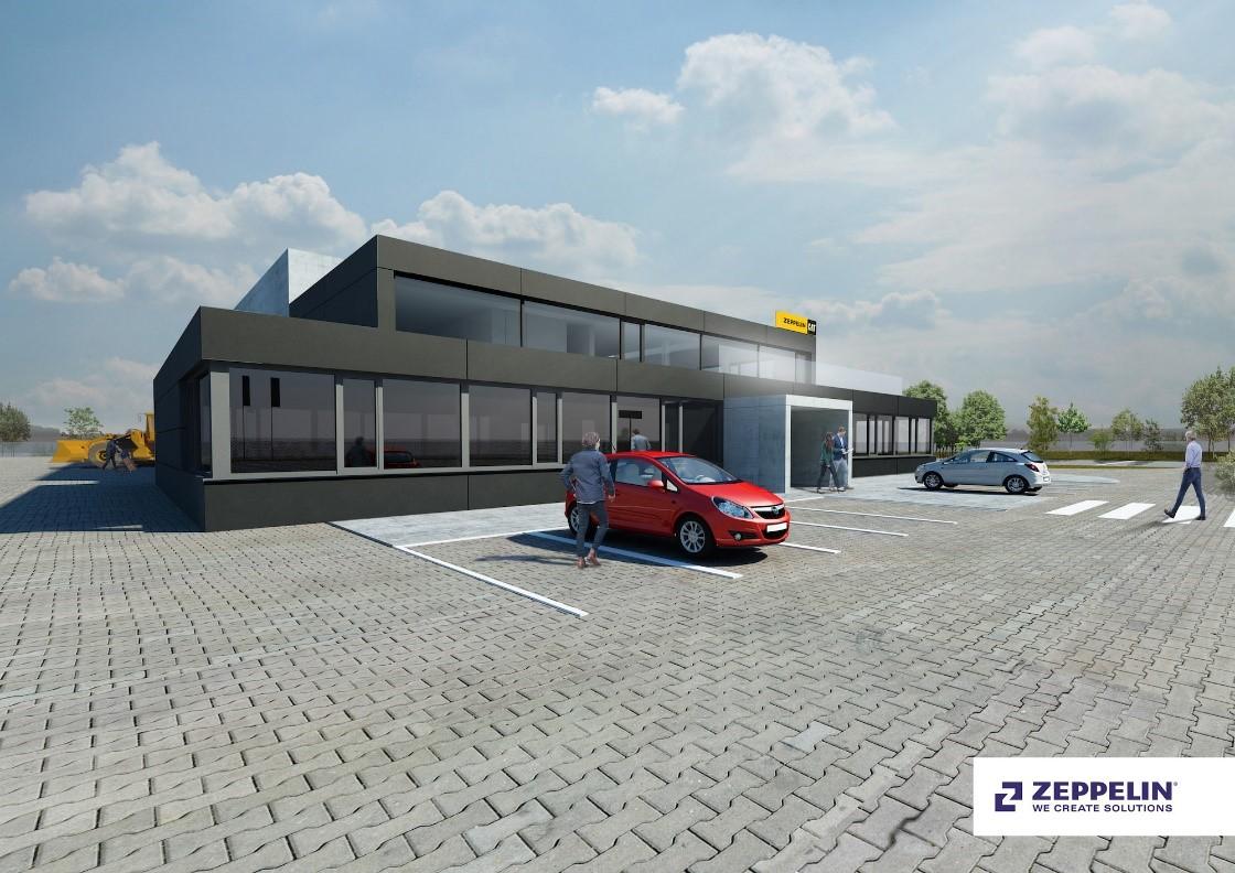 vizualizace budoucího stavebního záměru provozního areálu společnosti