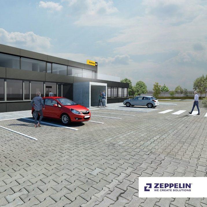 Vizualizacia budovy pro Zeppelin na Slovenku