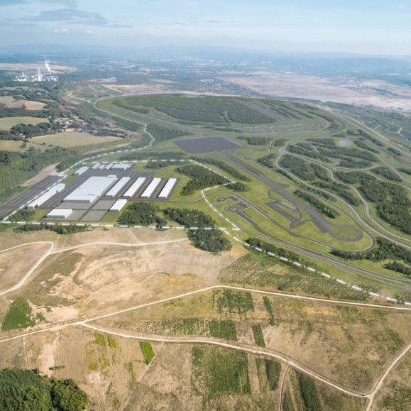 Vývojové centrum mobility: BMW Group v Sokolově z ptačího hlediska