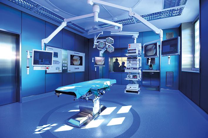 Operační sál v rehabilitační nemocnici Speising ve Vídni