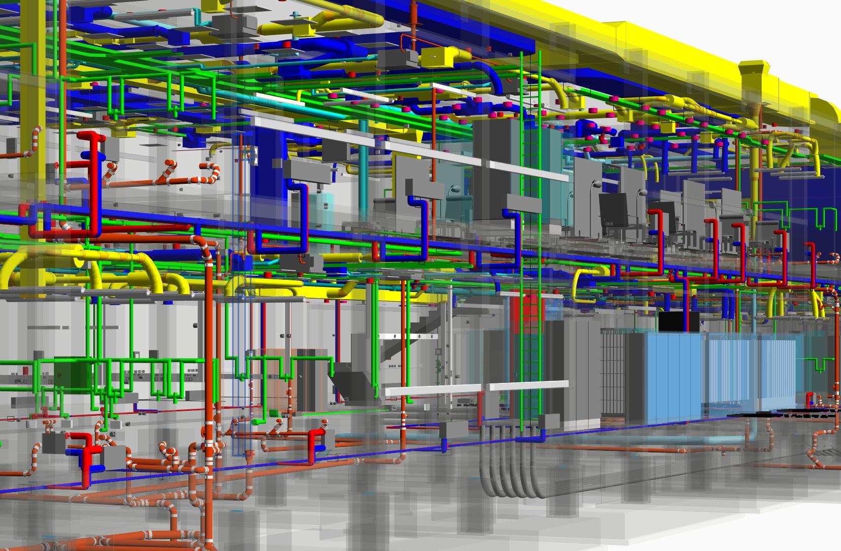 Vnútorné rozvody budovy, BIM model stavby
