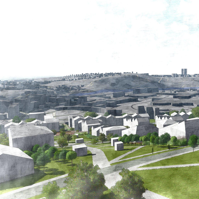 Vizualizace Městského bydlení Žlutý kopec v Brně