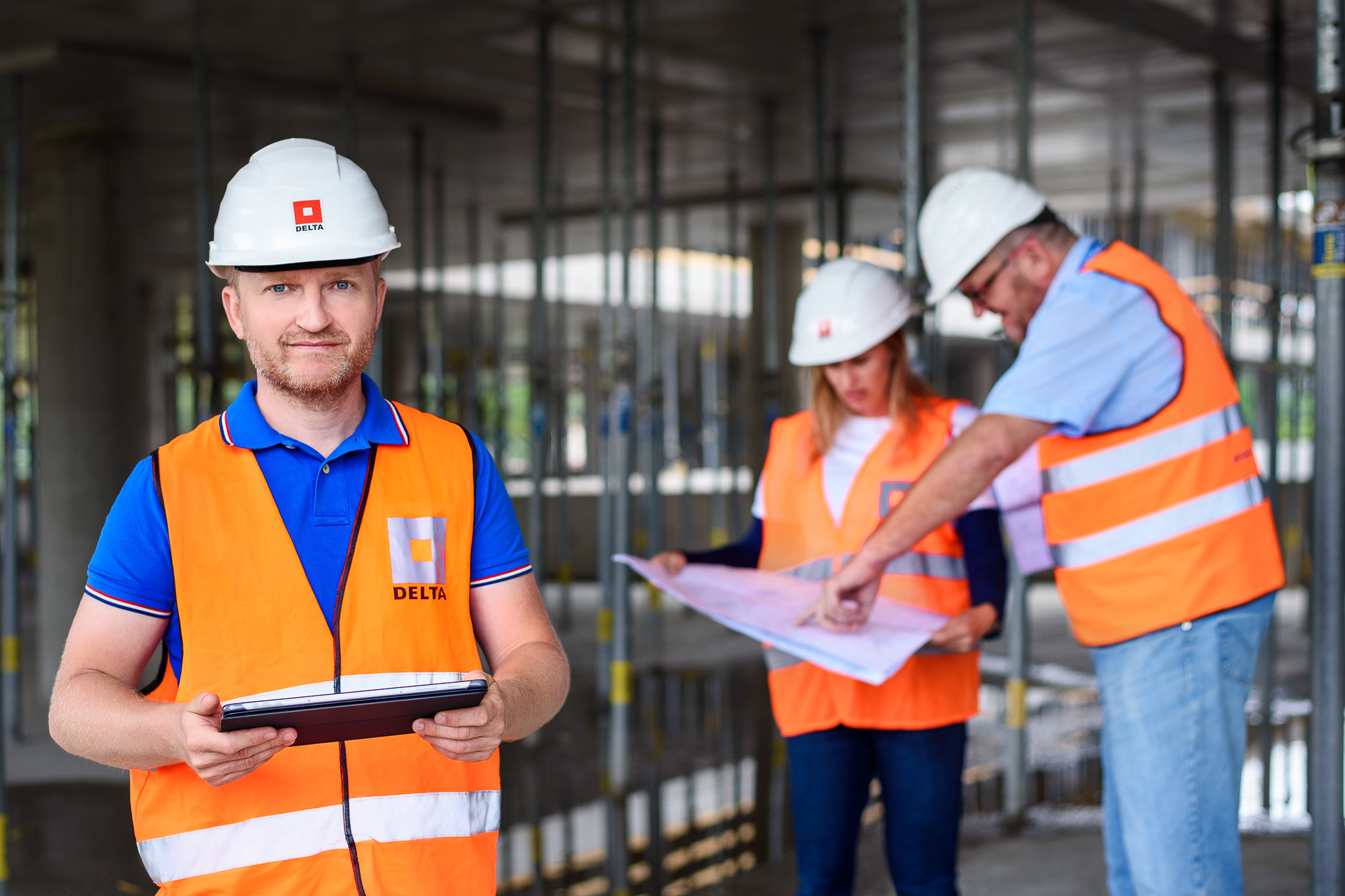 Zaměstnanci DELTA Group CZ na staveništi